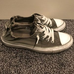 Grey Converse slip ons